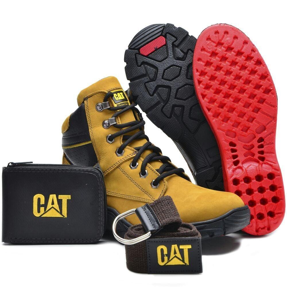 b4e293e38a BOTA CATERPILLAR 2155 - Dourada COURO - Loja de Calçados Online  Coturnos  Botas Bolças Em Oferta Na CfShoes