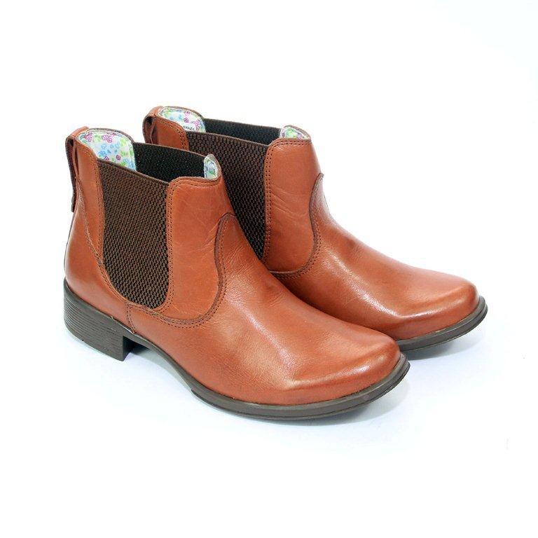 9b06bcb80 Bota Country Feminina Cano Curto Couro 314 - Loja de Calçados Online ...