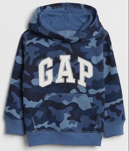 Blusa De Moletom Gap® Azul Camuflado