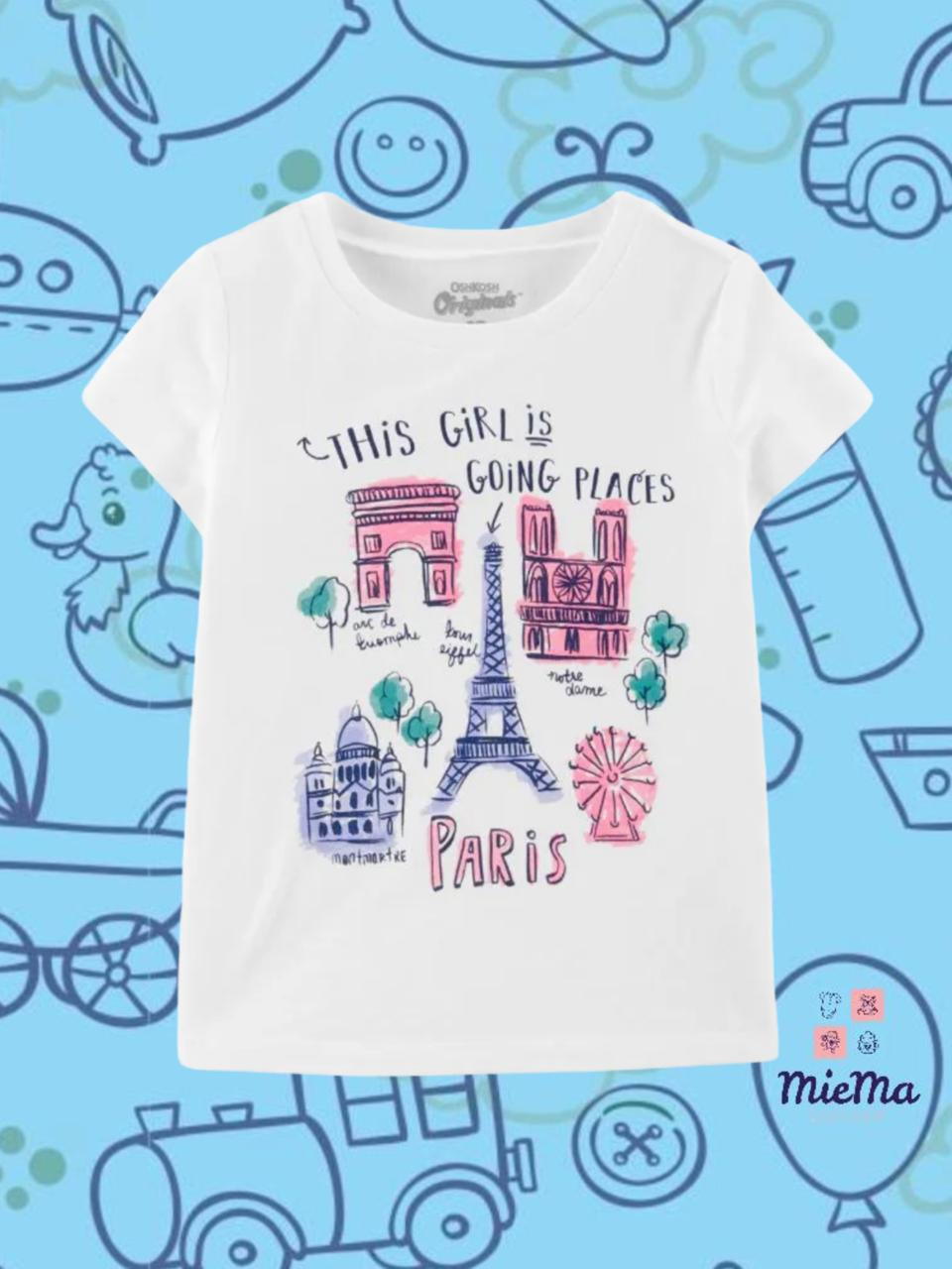 CAMISETA MENINA OSHKOSH® PARIS