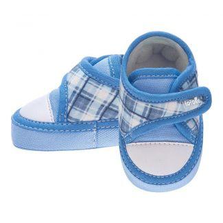 All Star Menino Xadrez Azul Jeans - FOFOPÉ