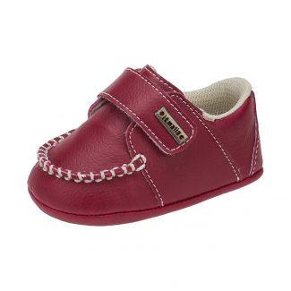 Mocassim Bebê Menino Ponta Velcro cor Vermelho - Itmalia