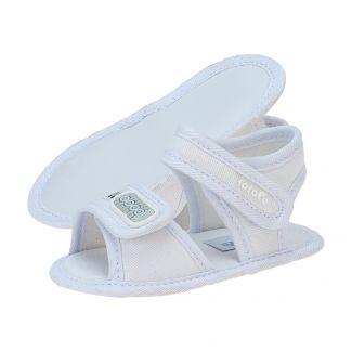 Papete Bebê Menino Velcro Branco - FOFOPÉ