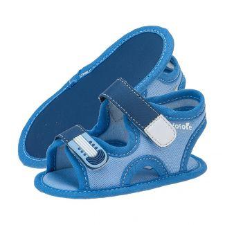 Papete Masculina Menino Ponta Velcro Azul Jeans - FOFOPÉ