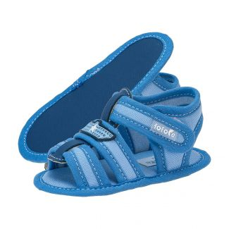 Sandália Bebê Menino Velcro Azul Jeans - FOFOPÉ