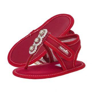 Sandália Dedinho Baby Menina Vermelha - FOFOPÉ