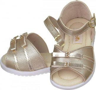 Sandália Laço Dourada Menina - FOFOPÉ
