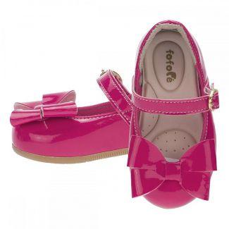 Sapatilha Menina Fivela Laço Pink - FOFOPÉ