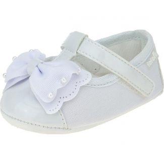 Sapato Boneca Laço Perolas Fofopé
