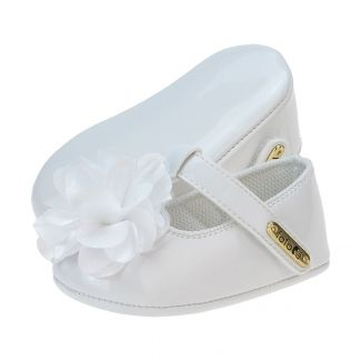 Sapato Boneca Menina Flor Branca - FOFOPÉ