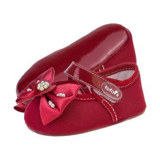Sapato Menina Boneca Laço cor Vermelho - FOFOPÉ