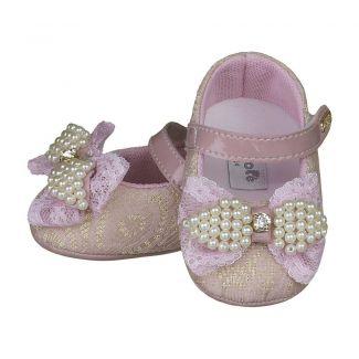 Sapato Boneca Rosê Laço Renda - FOFOPÉ