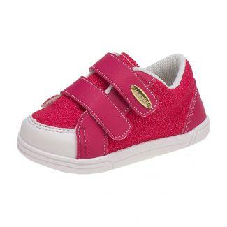 Tênis Kids Menina Ponta Velcro Pink - Itmalia