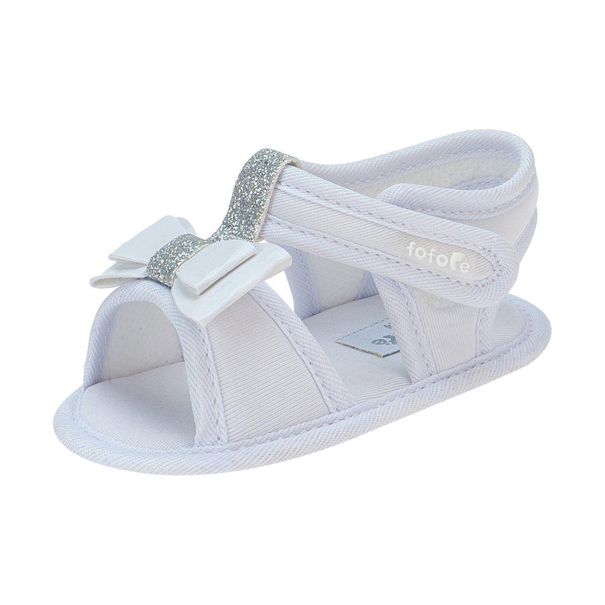 Sandália Baby Feminina Branca - FOFOPÉ