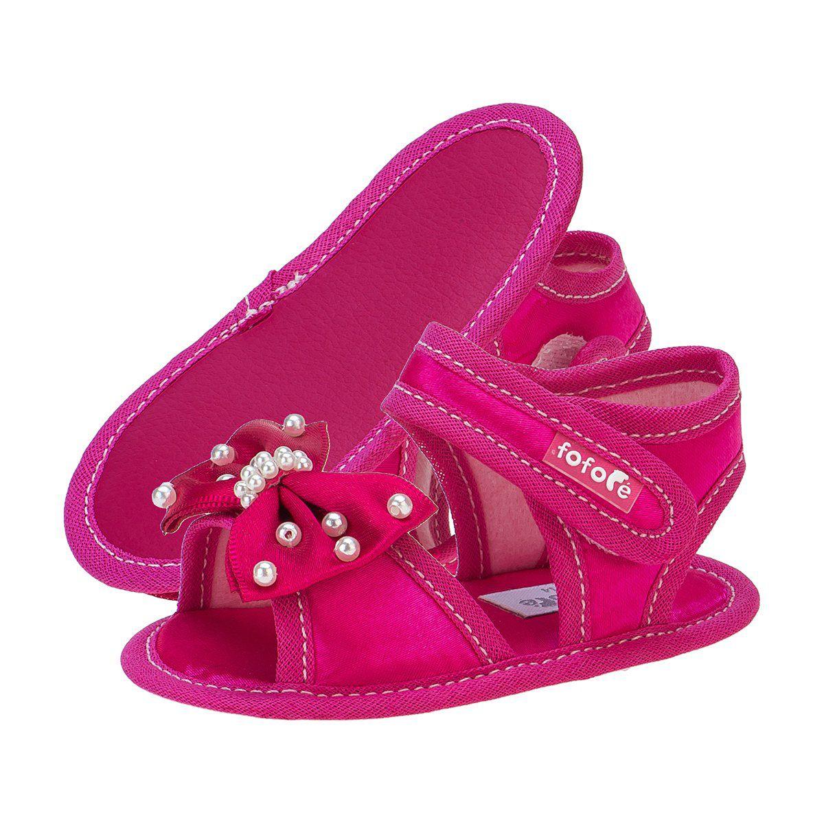 Sandália Baby Feminina Pink - FOFOPÉ