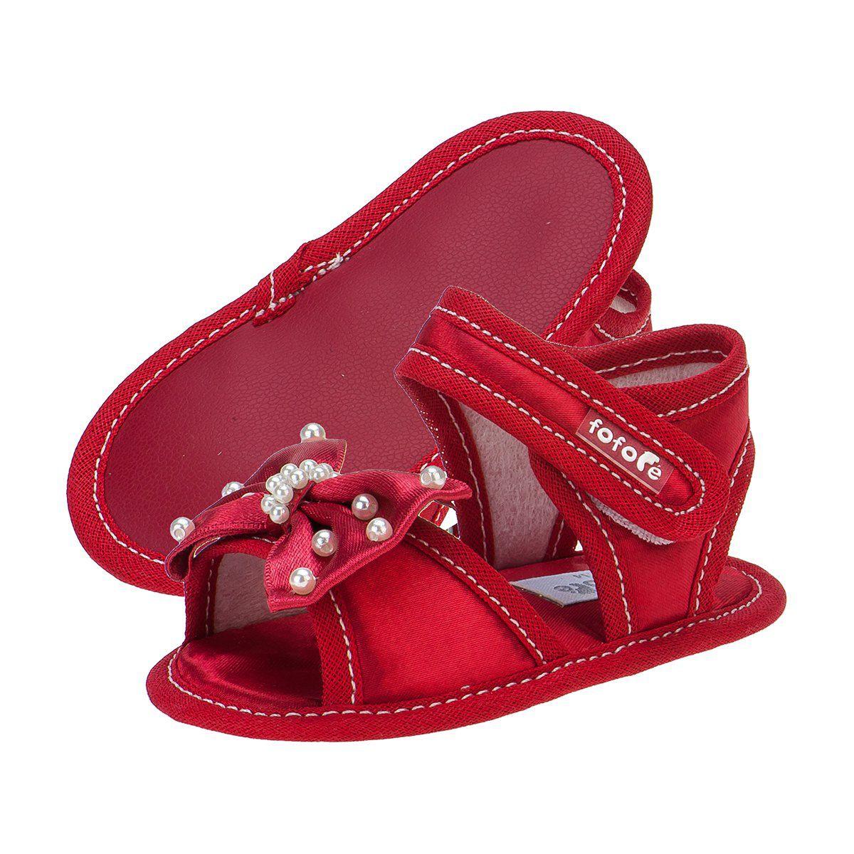 Sandália Baby Feminina Vermelho - FOFOPÉ