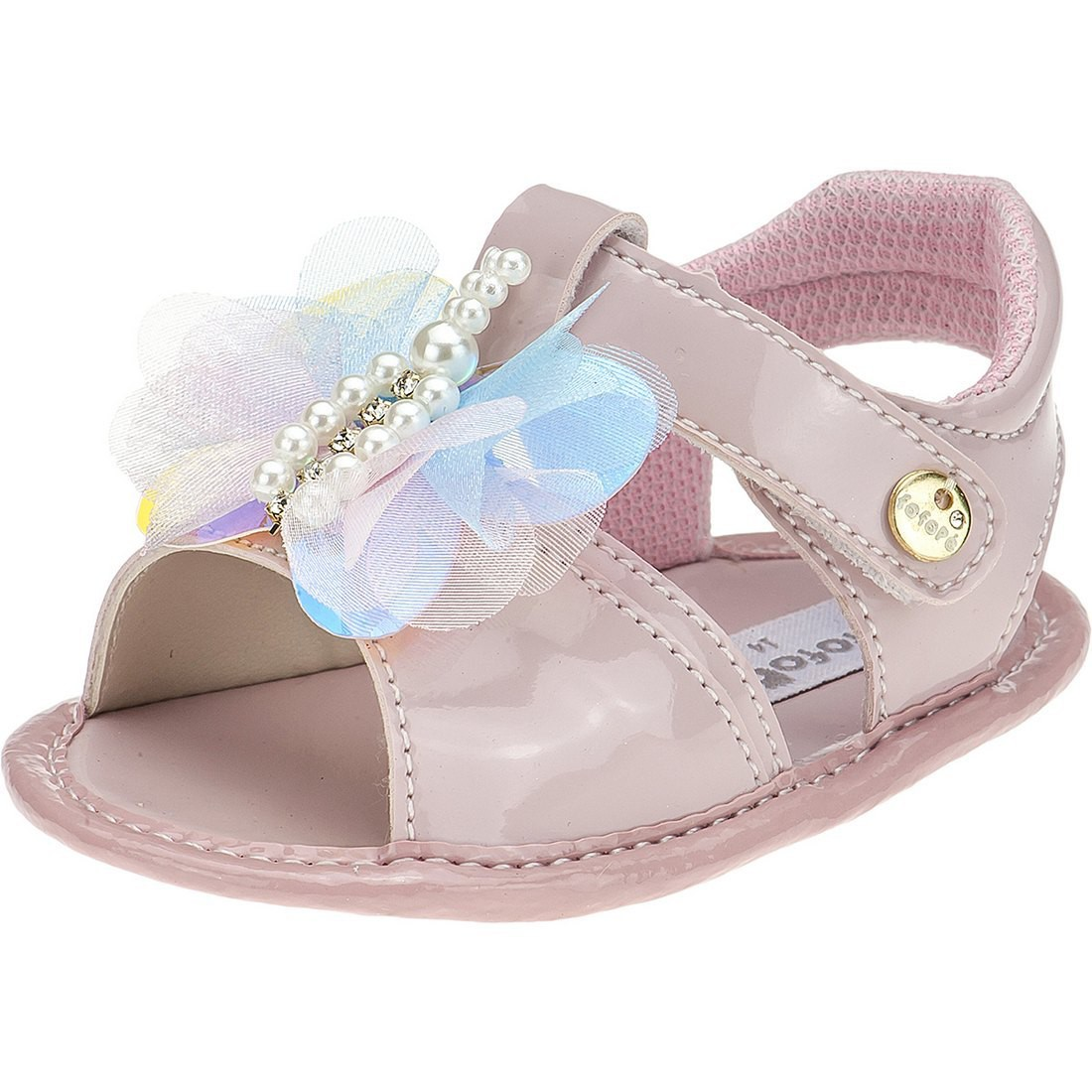 Sandália Baby Menina Fofopé Borboletas Rosê