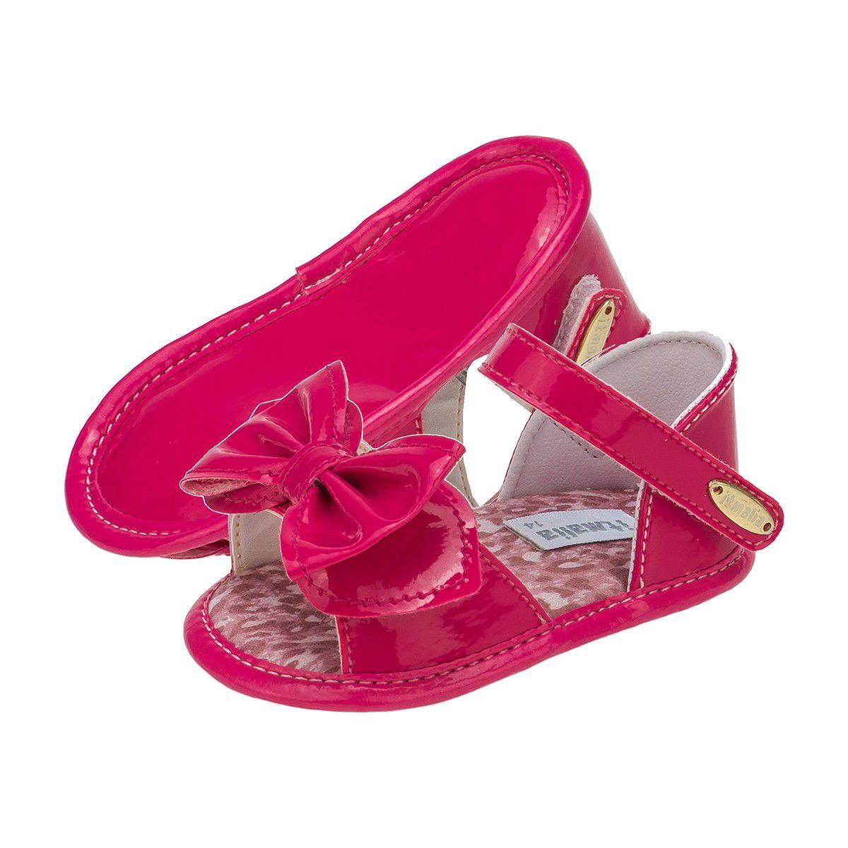 Sandália Bebê Menina Pink com Laço - Itmalia