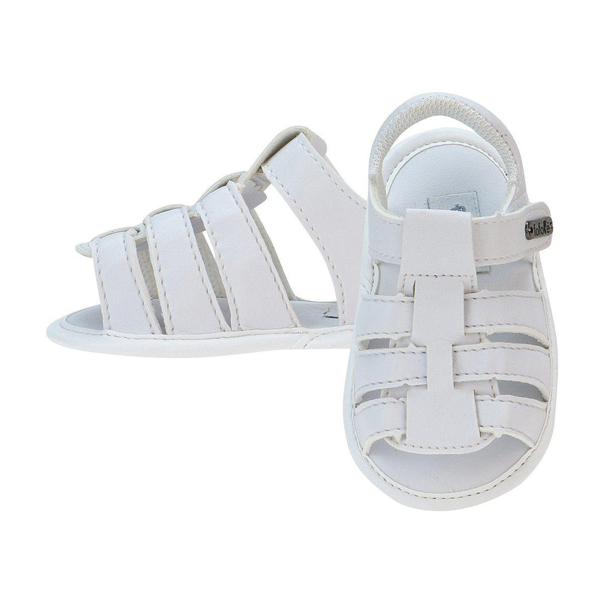 Sandália Bebê Menino Velcro Branco - FOFOPÉ
