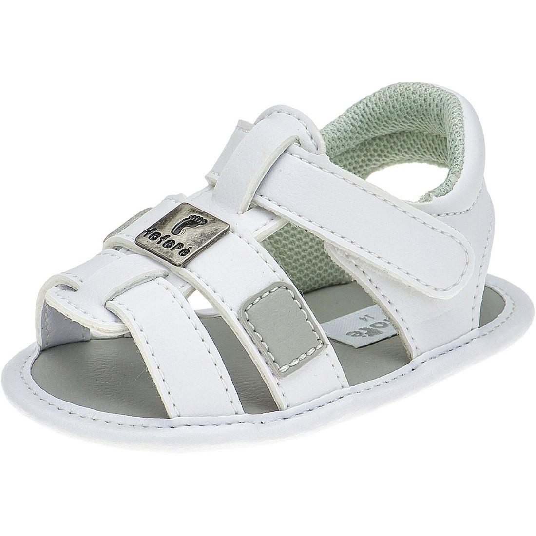 Sandália Infantil Bebê Menino Ponta Velcro - FOFOPÉ