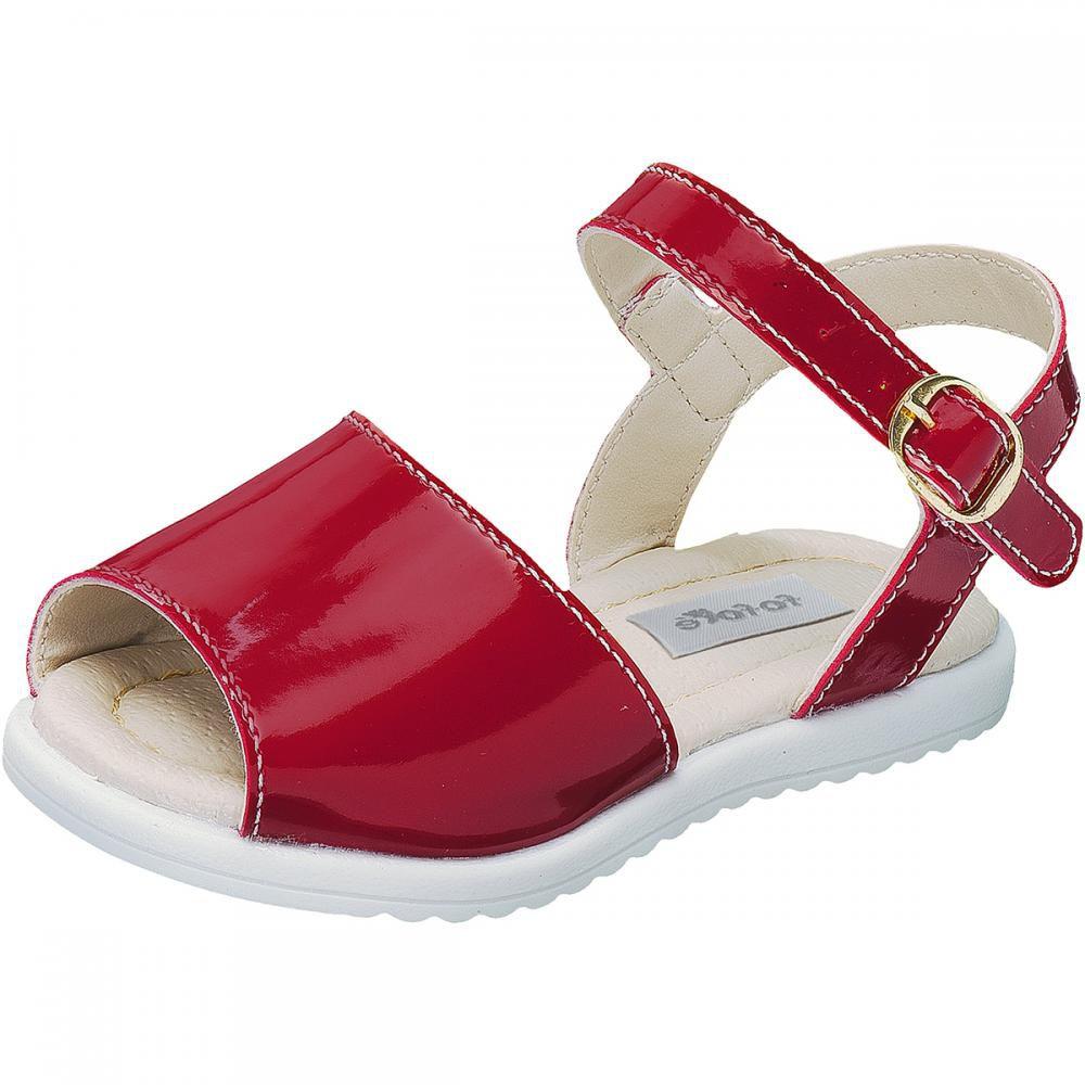Sandália Fivela Vermelha Menina - FOFOPÉ