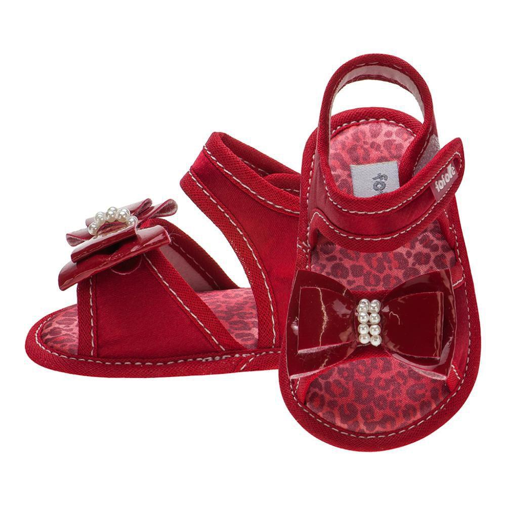 Sandália Laço Vermelha Menina - FOFOPÉ