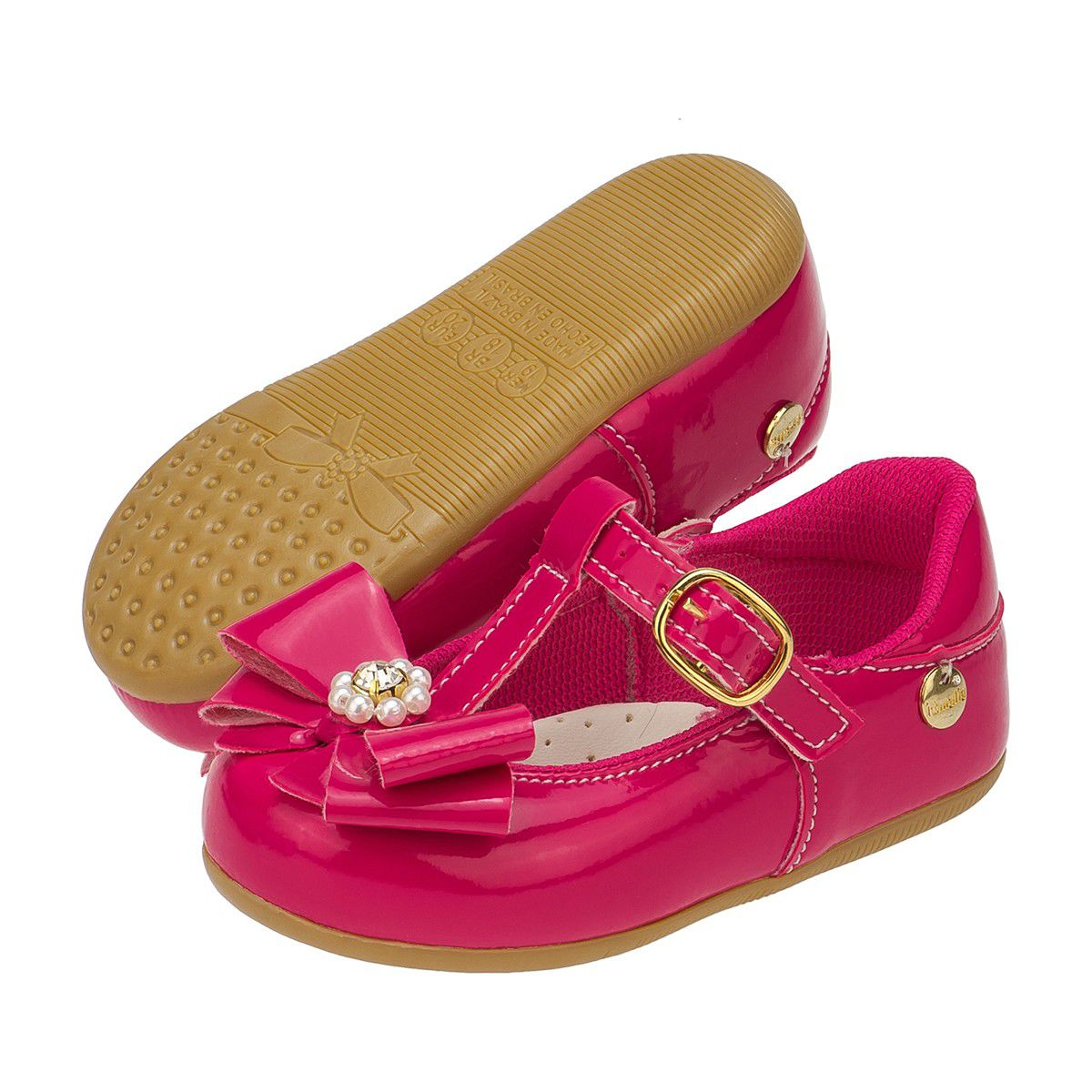 Sapatilha Kids Menina Laço com Perolas Pink - Itmalia