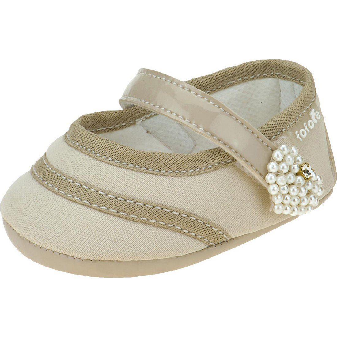 Sapato Boneca Coração Perolas Fofopé