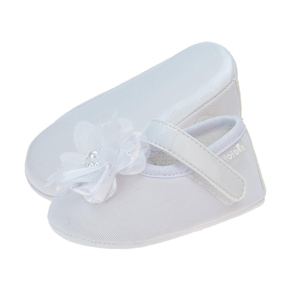Sapato Boneca Flor Menina Branca - FOFOPÉ