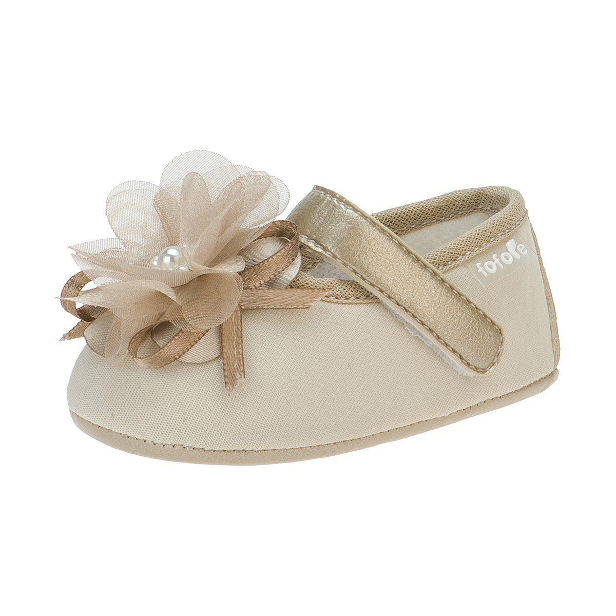 Sapato Boneca Flor Menina Dourado - FOFOPÉ