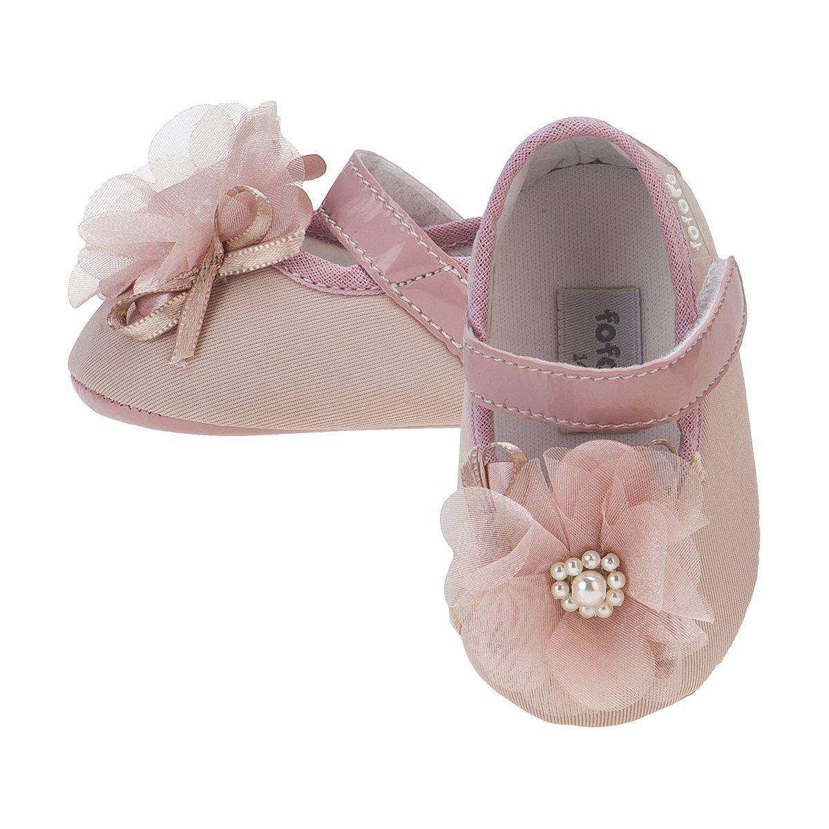 Sapato Boneca Flor Menina Rosê - FOFOPÉ
