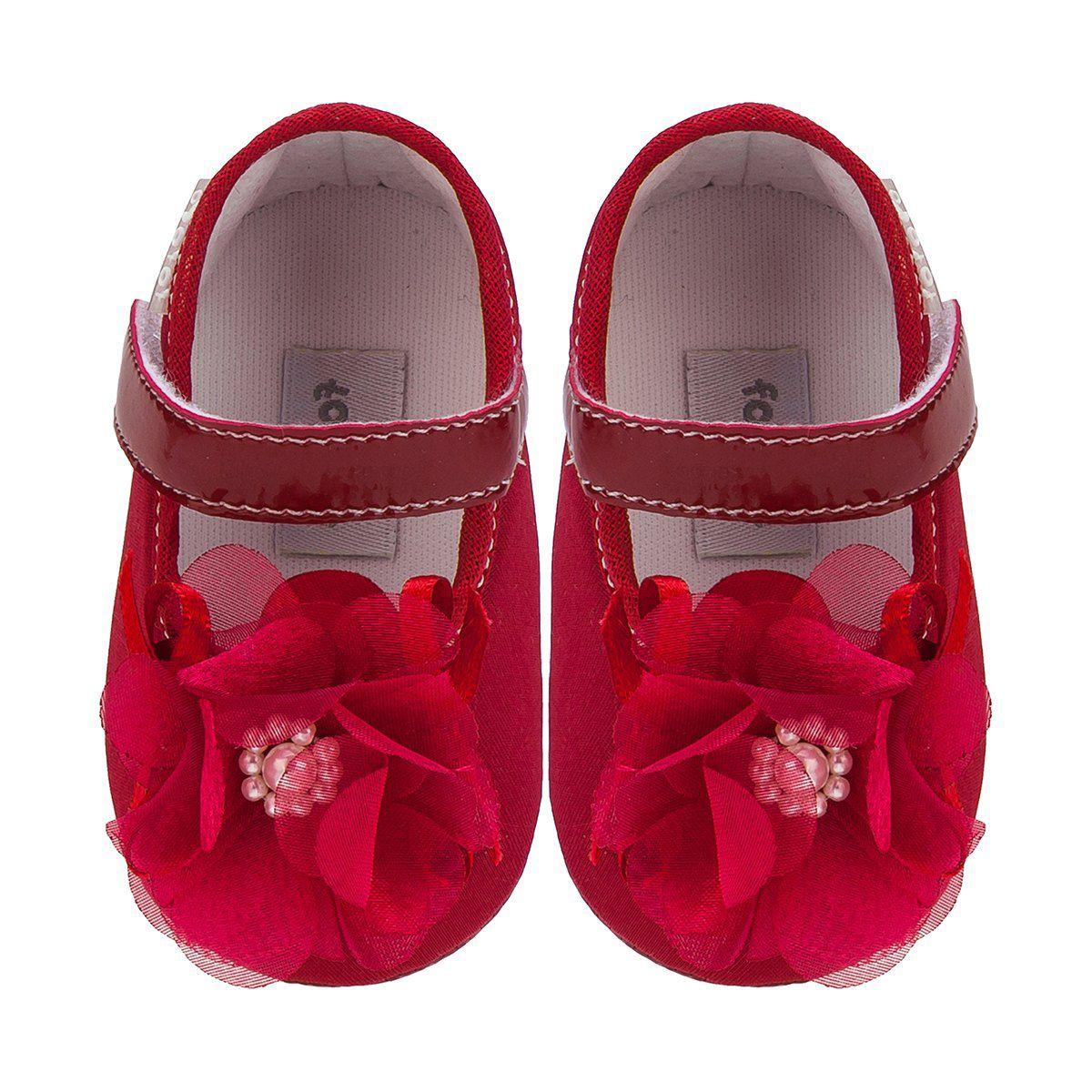 Sapato Boneca Flor Menina Vermelho - FOFOPÉ