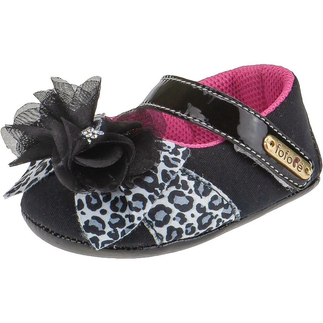 Sapato Boneca Fofopé Laço Onça