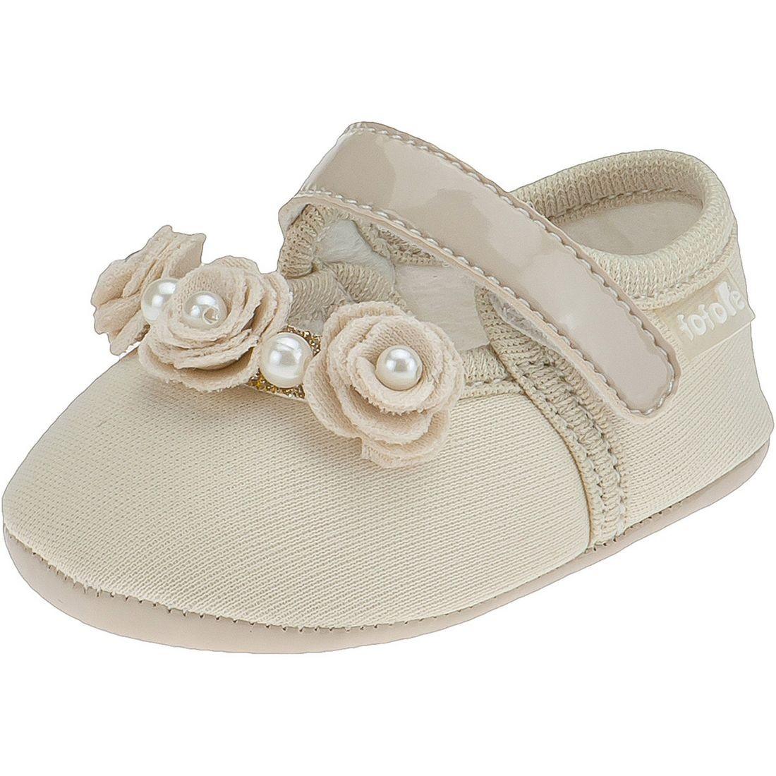 Sapato Boneca Fofopé Rosas Perola