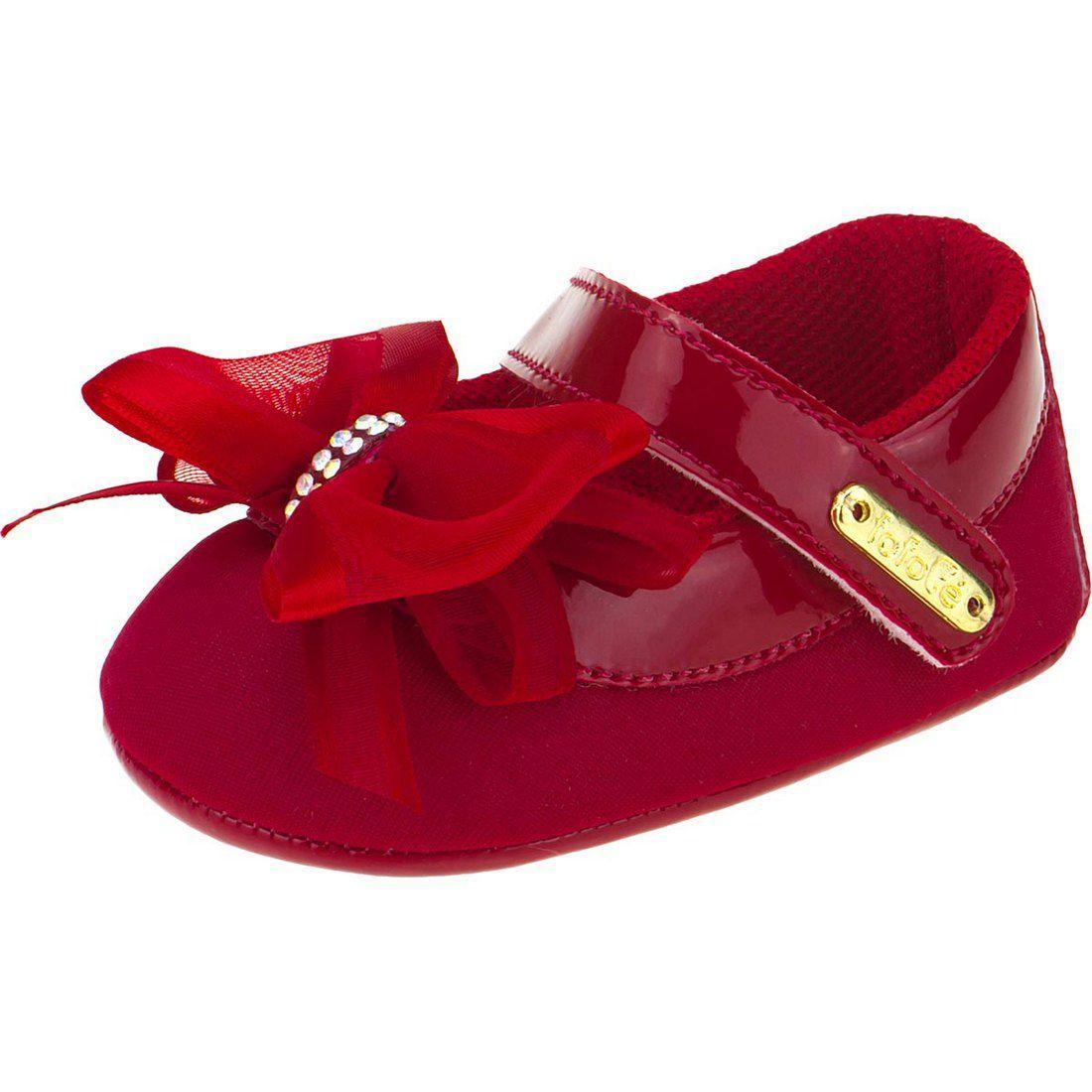 Sapato Boneca Laço Cetim Fofopé