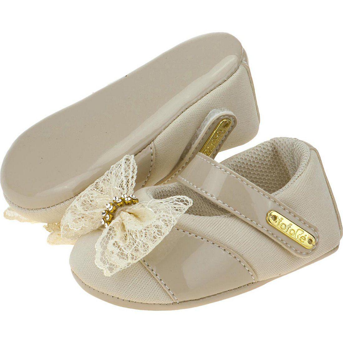 Sapato Boneca Laço Renda Fofopé