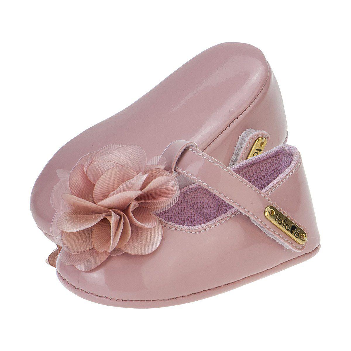 Sapato Boneca Menina Flor Rosê - FOFOPÉ