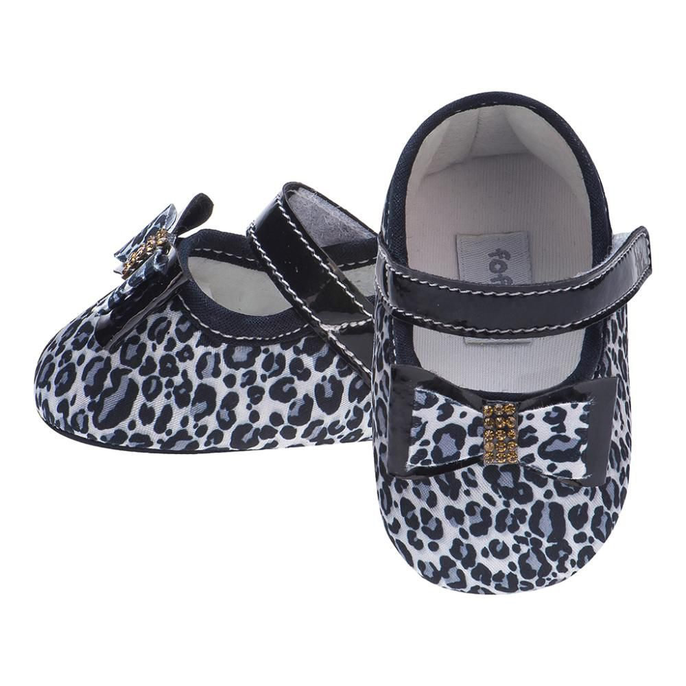 Sapato Boneca Onça Preto - FOFOPÉ