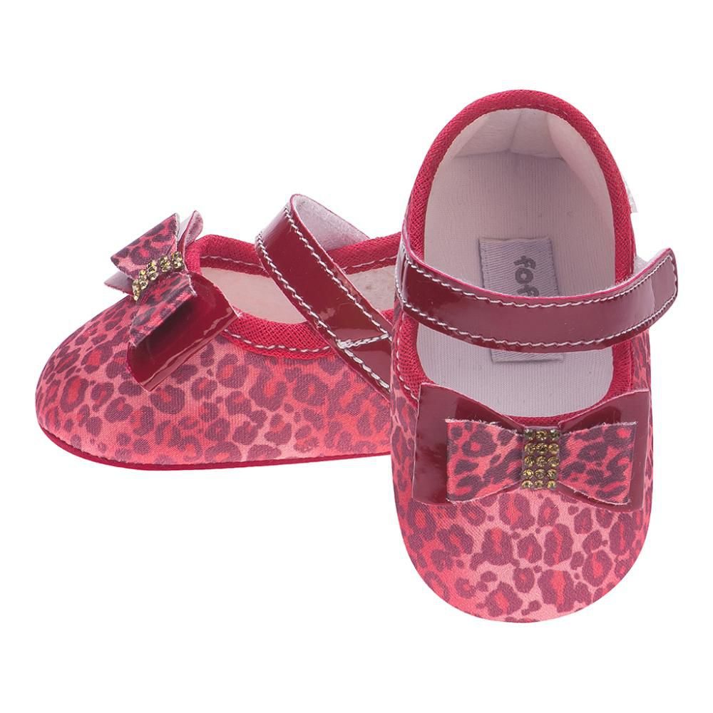 Sapato Boneca Onça Vermelho - FOFOPÉ