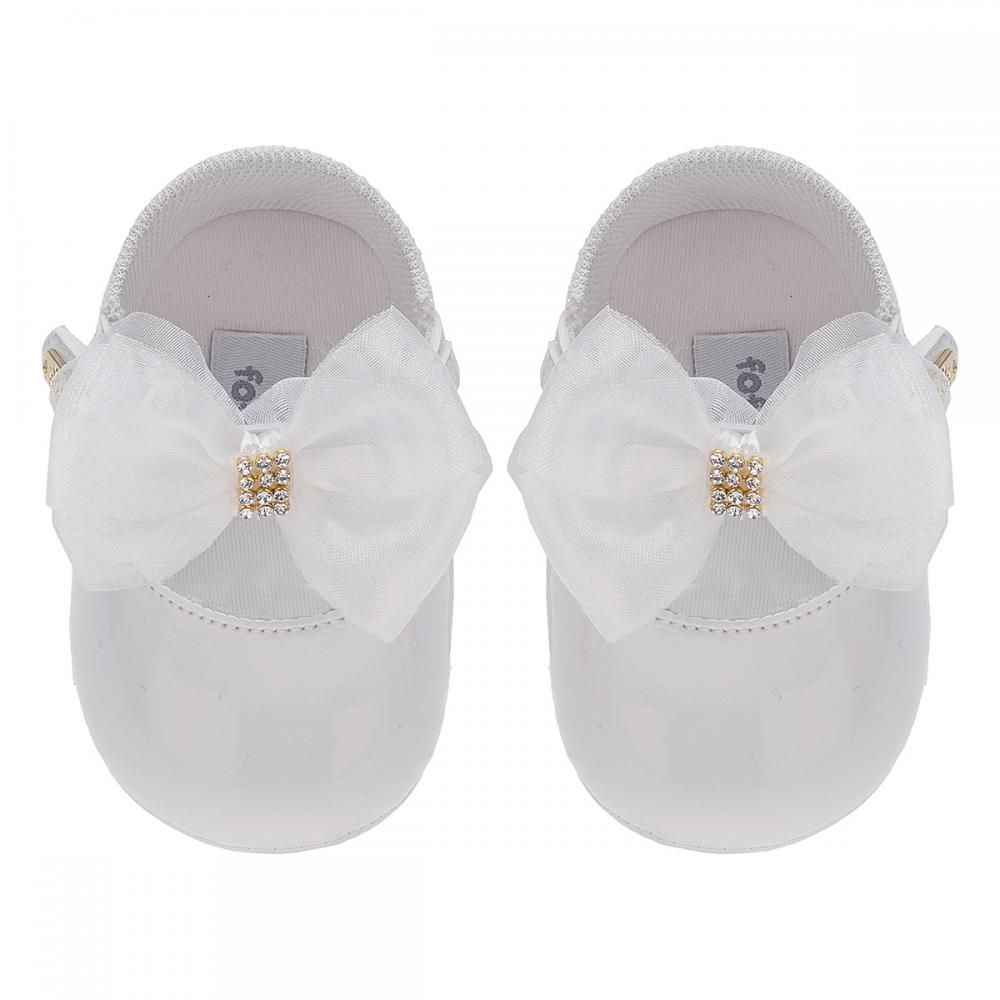 Sapato Boneca Laço Branco - FOFOPÉ