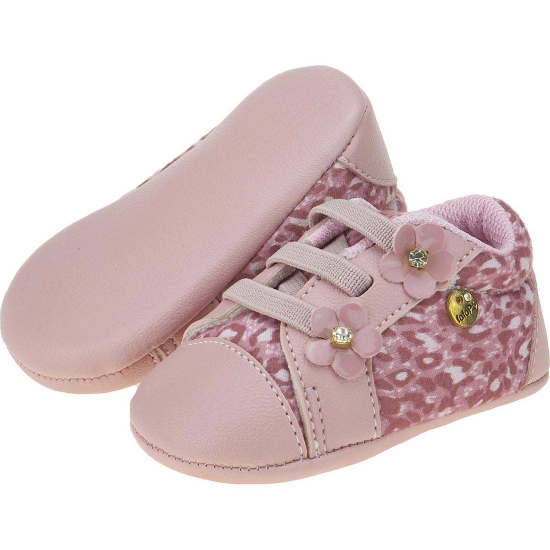 Tênis Casual Bebê Menina Estampa Onça - FOFOPÉ
