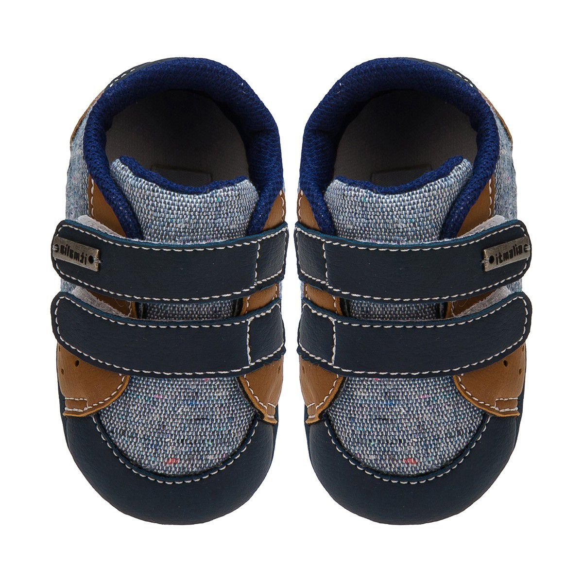 Tênis Menino Bebê Cor Jeans/Caramelo - Itmalia