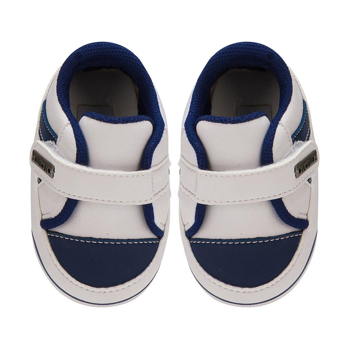 Tênis Menino Bebê Ponta Velcro Cor Branco - Itmalia