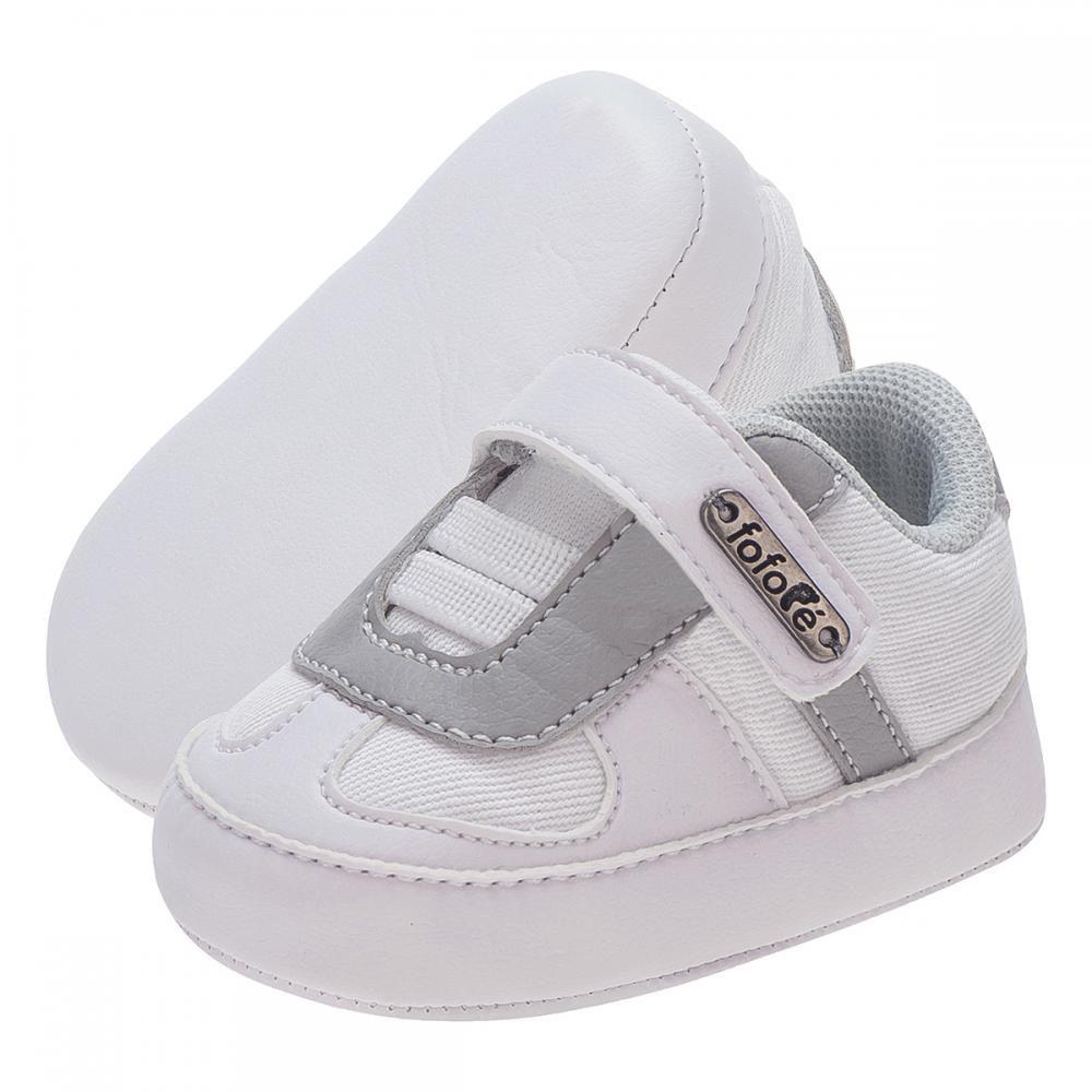Tênis Menino Velcro Branco - FOFOPÉ