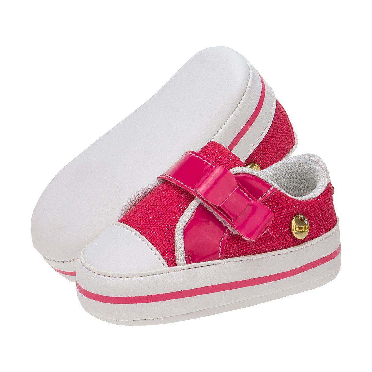 Tênis Revirão Bebê Menina Jeans Pink - Itmalia