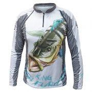 Camiseta de Pesca King KFF07 Tucunaré (Com Proteção Solar 50+)