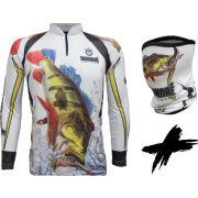 Camiseta e Bandana de Pesca King KFF302 Tucunaré (Com Proteção Solar 50+)