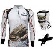 Camiseta e Bandana de Pesca King KFF303 Pirarara (Com Proteção Solar 50+)