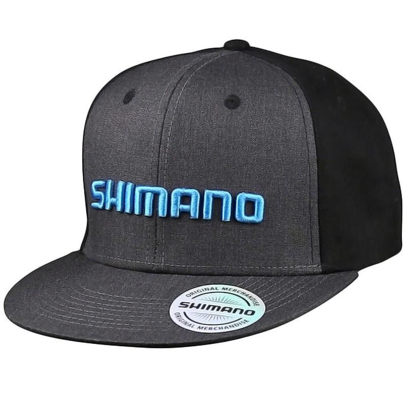 Boné Shimano Aba Reta Cinza Preto (Importado, USA)