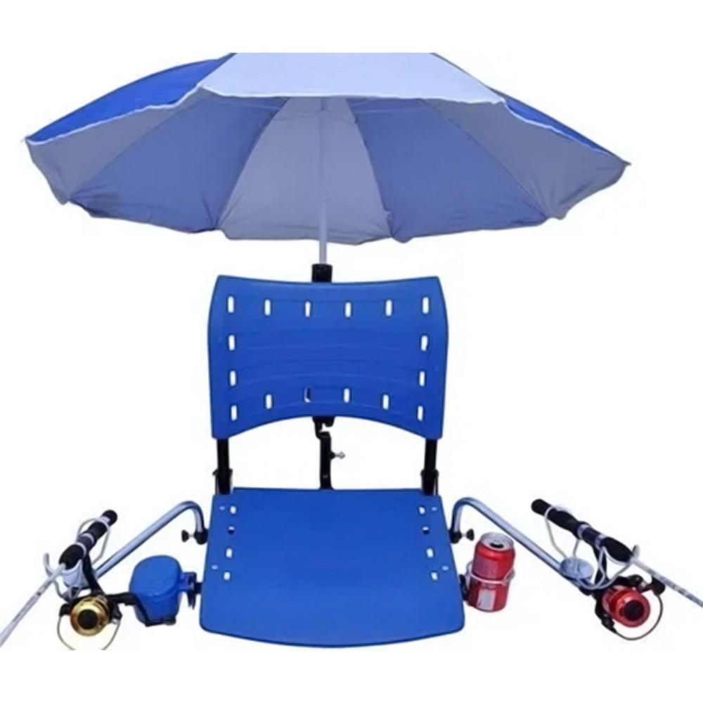 Cadeira de Barco Rio Mar Dobrável em PVC com Suportes